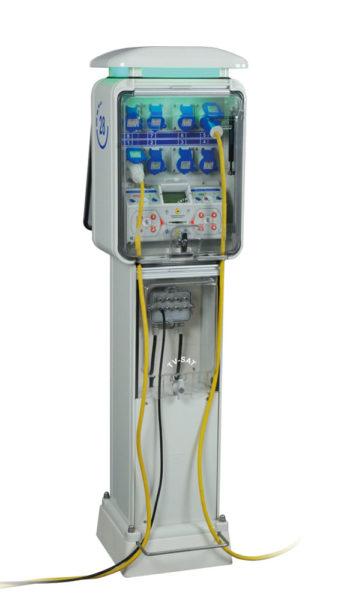 Borne de rechargement électrique pièces/billets