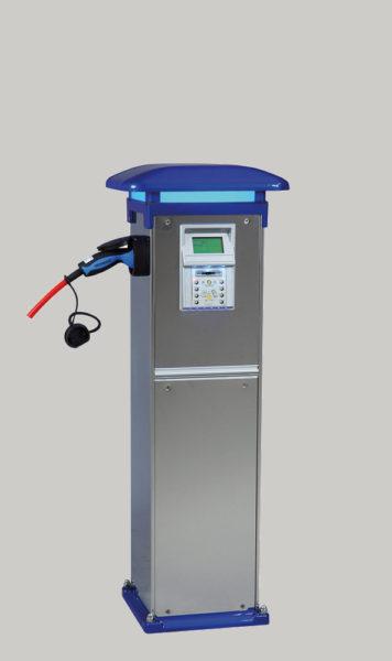 Borne de rechargement électrique avec badge sans contact