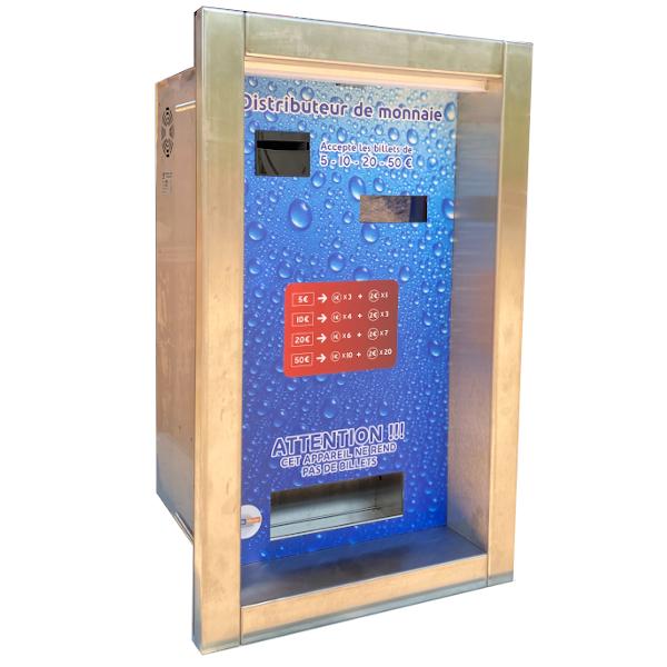 Distributeur de jetons encastrable, pièces et billets